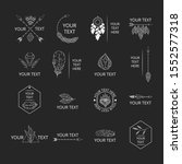 collection of hand drawn logos... | Shutterstock .eps vector #1552577318