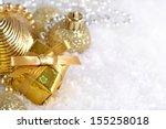 golden christmas decorations   Shutterstock . vector #155258018