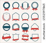 collection of flat shields... | Shutterstock . vector #1552597865
