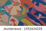 geometric design. colorful... | Shutterstock .eps vector #1552624235