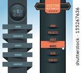 vector vertical header web menu ...   Shutterstock .eps vector #155267636