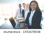 diverse group of smiling... | Shutterstock . vector #1552678538