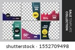 sale template collection for... | Shutterstock .eps vector #1552709498