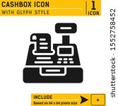 cashbox icon with glyph style...