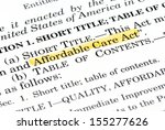 """Small photo of Words """"Affordable Care Act"""" highlighted within the Affordable Care Act document"""