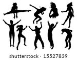 people jumping vector | Shutterstock .eps vector #15527839