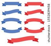 ribbon banner design. ribbons...   Shutterstock .eps vector #1552839458