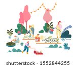 men and women farmers or... | Shutterstock .eps vector #1552844255