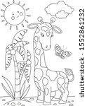 Giraffe Coloring Page. Animals...