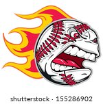 Angry flaming screaming baseball