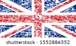 shabby flag great britain  flag ... | Shutterstock .eps vector #1552886552
