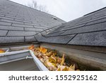 Gutters Are Full Of Fall Leaves ...