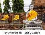 ancient buddha statue | Shutterstock . vector #155292896
