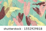foliage seamless pattern ... | Shutterstock .eps vector #1552929818