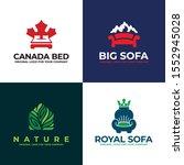 sofa  bed  furniture logo...   Shutterstock .eps vector #1552945028