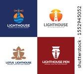 lighthouse  water  lotus  pen...   Shutterstock .eps vector #1552945052