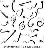 set of calligraphic black...   Shutterstock .eps vector #1552978565
