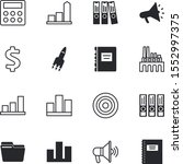 business vector icon set such... | Shutterstock .eps vector #1552997375
