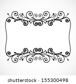 vector vintage frame vector... | Shutterstock .eps vector #155300498