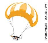 Parachuting Flat Vector...