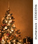 Decorated Lit Christmas Tree...