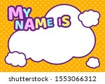 my name ist  text bubble box... | Shutterstock .eps vector #1553066312