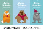 cartoon fox  wolf  bear on... | Shutterstock .eps vector #1553150948
