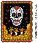 Pattern With Mexican Skull ...