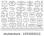 calligraphic design elements .... | Shutterstock .eps vector #1553205212