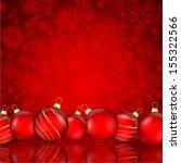 decorative christmas background ... | Shutterstock .eps vector #155322566