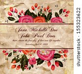 wedding invitation card | Shutterstock .eps vector #155323622