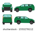 set of green suv car view on... | Shutterstock .eps vector #1553278112