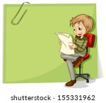 Illustration Of A Boy Reading...