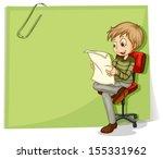 Illustration Of A Boy Reading...