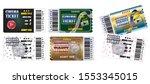 set of cinema tickets in... | Shutterstock .eps vector #1553345015