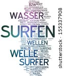 word cloud   surf | Shutterstock . vector #155337908