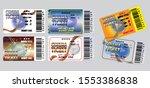 set of cinema tickets in... | Shutterstock .eps vector #1553386838