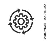 workflow icon in flat style.... | Shutterstock .eps vector #1553488355