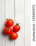 top view of red tomatoes on... | Shutterstock . vector #155349572