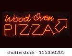 an orange neon sign reading... | Shutterstock . vector #155350205