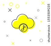 grey music streaming service...   Shutterstock . vector #1553509235