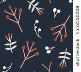 hand drawn christmas seamless... | Shutterstock .eps vector #1553530208