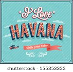 vintage greeting card from... | Shutterstock .eps vector #155353322