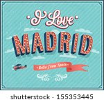 vintage greeting card from... | Shutterstock .eps vector #155353445