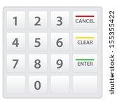 atm keypad isolated on white.... | Shutterstock .eps vector #155355422