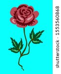 hand drawn art of a rose flower | Shutterstock . vector #1553560868