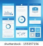 minimal infographic elements....   Shutterstock .eps vector #155357156