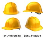 Vector Yellow Safety Helmets On ...