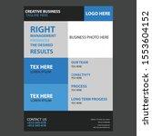 modern business flyer design.... | Shutterstock .eps vector #1553604152