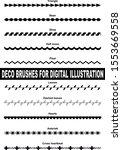 decorative brushes for digital... | Shutterstock .eps vector #1553669558